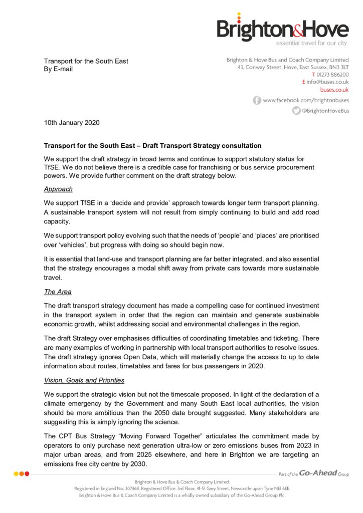 thumbnail of B&H Buses and Metrobus TfSE draft strategy consultation response