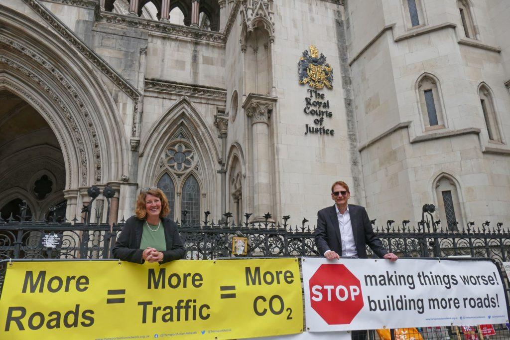 Becca and Chris at RIS2 hearing at High Court